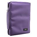 Promo Poly-Canvas Bible / Book Cover w/Fish Applique (Dahlia Purple) - Medium