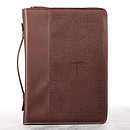 Names of Jesus (Burgundy) Two-tone LuxLeather Bible Cover- Medium