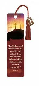 """John 3:16"" Bookmarks w/ Charm"