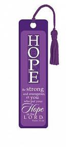"""Psalm 31:24"" Tassle Bookmark"