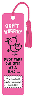 """Don't Worry"" Tassle Bookmark"