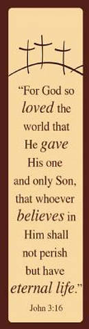 """John 3:16"" (Tan) Bookmarks"