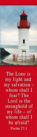 """Lighthouse/""""Psalm 27:1"""" Bookmarks Pack of 10"""