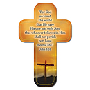 """""""John 3:16"""" Paper Cross Bookmark Pack of 12"""