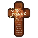 """Grace"" (Brown) Paper Cross Bookmark Pack of 12"