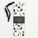 Proverbs 3:5 - Faux Leather Bookmark