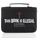 """This Book Is Illegal"" Micro-Fiber Bible Cover, Large"