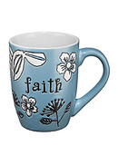 Faith Blue Mug