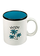 Hope Flower White/blue Mug