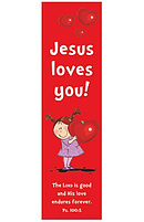 """""""Jesus Loves You"""" (Red) Bookmarks - Pack of 10"""