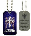 Jesus Saves - Dog Tag