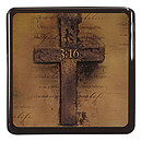 John 3:16/Cross - Epoxy Magnet