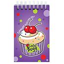 LaeDee Bugg Wirebound Notepad Cupcake