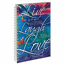 Live Laugh Love - Frosted Wirebound Notebook