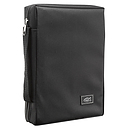 Fish Applique (Black) Poly-Canvas Bible Cover - Small