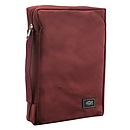 Fish Applique (Burgundy) Poly-Canvas Bible Cover, Medium