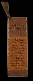 Josh 1:7,9 - Faux Leather Bookmark
