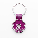 Purple Flower Metal Keyring - Faith