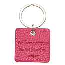 Pink Faux Leather Keyring Love 1 Jn 4:19