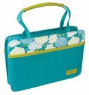 Hope/Flowers (Blue) Canvas Purse-Style Bible Cover, Medium