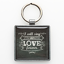 Love Ps 89:1 Epoxy Keyring