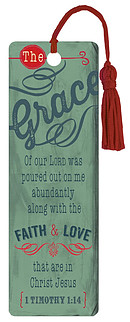 """Grace"" (Teal) PVC Bookmark"
