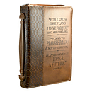 Jeremiah 29:11 (Brown) Two-tone LuxLeather Bible Cover - Medium