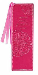 Pink With God Mt 19:26 LuxLeather Pagemarker