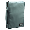 Fish Applique (Teal) Poly-Canvas Bible Cover - Medium