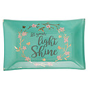 Let Your Light Shine Glass Tray