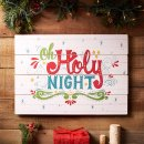 Wall Plaque-Oh Holy Night