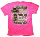 Cherished Girl Adult T-Shirt Camo and Pearls Small
