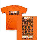 T-Shirt God is Greater     LARGE