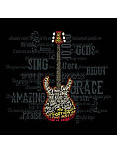 T-Shirt Amazing Guitar Adult Small