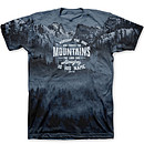 Who Made The Mountains T-Shirt, Large
