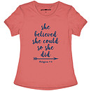 She Believed She Could T-Shirt, Small
