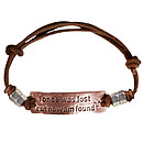 Faith Gear I Once Was Lost Men's Bracelet