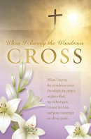 When I Survey The Wondrous Cross Bulletin (Pack of 100)