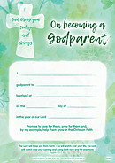 Certificate - On Becoming A Godparent - Pack of 10
