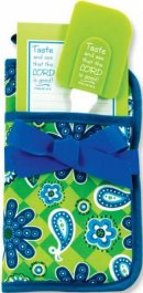 Oven Glove Kitchen Gift Set - Blue and Green