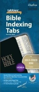 Bible Index Tabs Mini Gold - Catholic