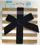 Glitter Gold Striped Boxed Card Holder