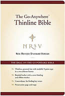 NRSV - the Go-anywhere Thinline Bible: Burgundy, Bonded Leather