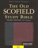 KJV Old Scofield Study Bible Pocket Edition Bonded Leather -  Black/Burgundy