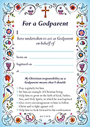 Blue Godparent Card - Pack of 40