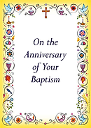 Anniversary Of Baptism Card - Pack of 10