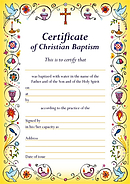 Certificate of Baptism - Pack of 20