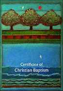 Certificate of Christian Baptism Pack of 20