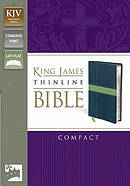 KJV Thinline Compact Blue Imitation Leather