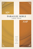 KJV, Amplified, Parallel Bible - Large Print, Hardcover, Red Letter Edition